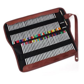 Canvas Pencil Wrap Pencils Holder Roll PouchPencil Bags color:Black size:72 holes - intl