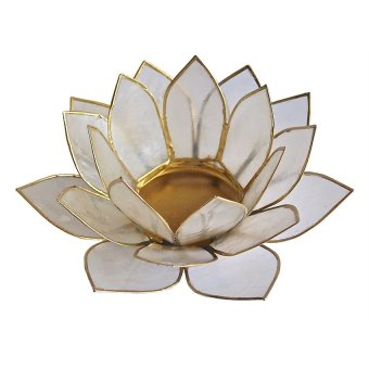 Capiz Lotus Candle Holder (Natural) Price Philippines