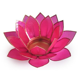 Capiz Lotus Candle Holder (Pink)