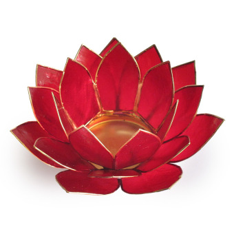 Capiz Lotus Candle Holder (Red) Price Philippines