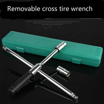 Car Tire Wrench Cross Socket Wrench Throttle Removal Tire ChangeTire Kit Set Car - intl