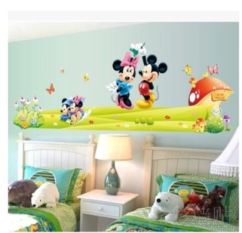 Cartoon children's room nursery bedroom decorative stickers wall stickers