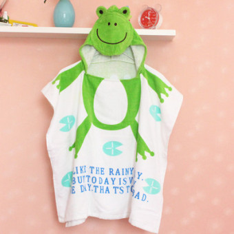 Cartoon cotton men girls bathrobe children bath towel