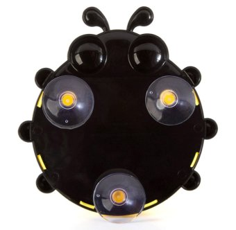 Cartoon Ladybug Bathroom Suction Cup Toothbrush Holder Yellow - picture 2