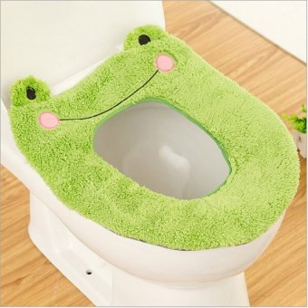 cartoon toilet seat cover mats seat pad(green)