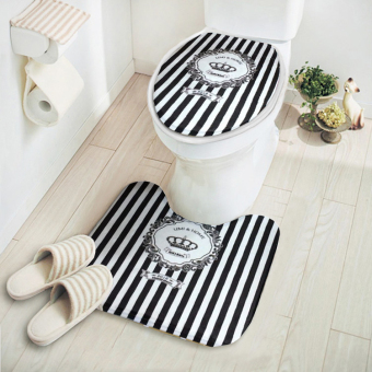 Cartoon warm toilet ring cover mat toilet mat