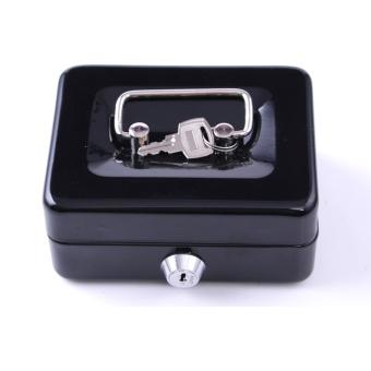Cash Box Safe Small Coin Piggy Bank Metal Saving Money Box BlackWith Locks Tirelire Banco Monedas HW109 - intl - 3