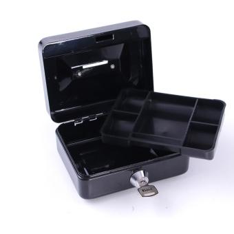 Cash Box Safe Small Coin Piggy Bank Metal Saving Money Box BlackWith Locks Tirelire Banco Monedas HW109 - intl - 5