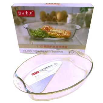 Casserole 3.3L Oval Microwaveable Tempered Glass (79170)