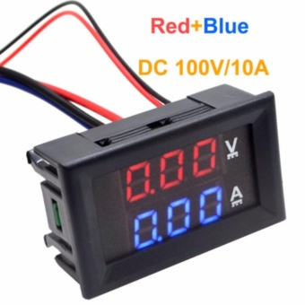 Catwalk DC 100V 10A Voltmeter Ammeter Blue + Red LED Dual DigitalVolt Amp Meter Gauge - intl Price Philippines