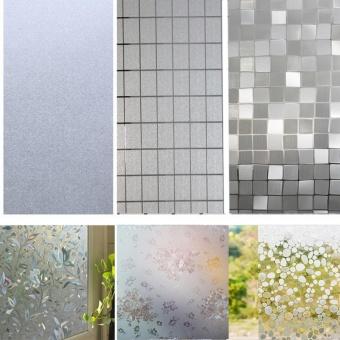 Catwalk Waterproof Bedroom Bathroom Glass Window Door Film StickerPVC Frosted 45x100cm - intl - 2