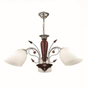 CEILING LAMP (BROWN) ?:600MM H:300MM WOOD, METAL & GLASS