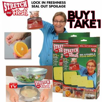Celebrity BUY 1 TAKE 1 Stretch and Fresh Re-Useable Food wraps