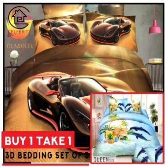 Celebrity Collection 3D Bedding Set of 3