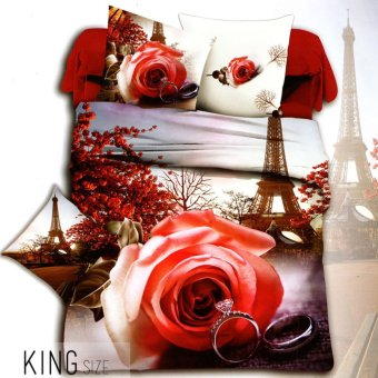 Celebrity Collection King Size Romantic Place 3D Bedding Set of 3