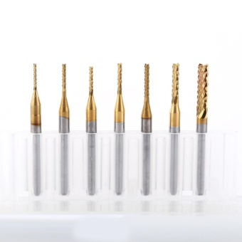 Cemented Carbide End Mill Engraving Bit CNC PCB Machinery RotaryBurr (1.3mm) - intl