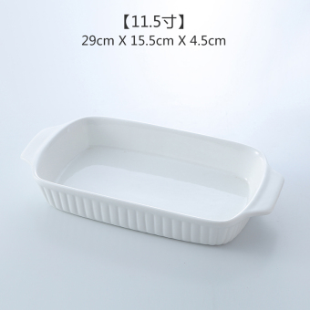Ceramic baking mold oven baked rice dish