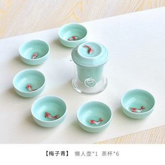 Ceramic porcelain fish cup