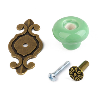 Ceramic Round Pull Handle Knob (Green) - picture 2