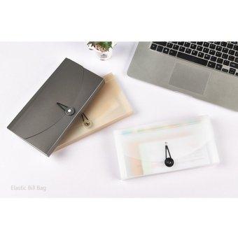 Check Ticket Size Elastic Strap Expandable Bills Card Holder FileStorage Folder Plastic Business Document Organizer Wallet Case 13Pockets - intl - 5
