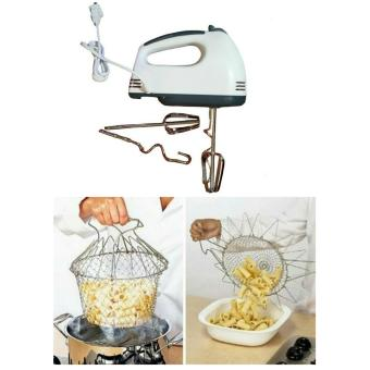 Chef Basket 12 In 1 Kitchen Tool And Scarlett Electric Hand MixerBundle