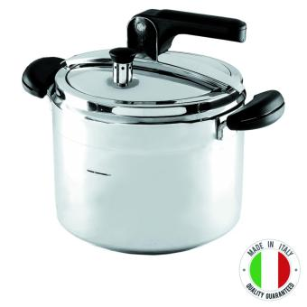 Chef's Classics by Barazzoni Rosabella 18/10 Stainless SteelPressure Cooker, 5lt (SIlver) with free Glass Lid - 2