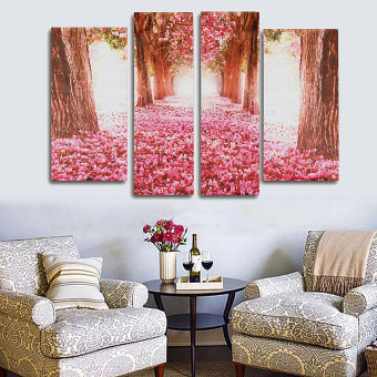 Cherry Blossom Abstract Canvas Art Oil Painting Home Wall Decor SetUnframed