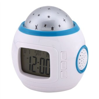 Children Room Sky Star Night Light Projector Lamp with SleepingMusic, Calendar, Clock, Thermometer Price Philippines