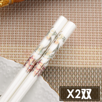 Chinese home European bone china round chopsticks ceramic chopsticks