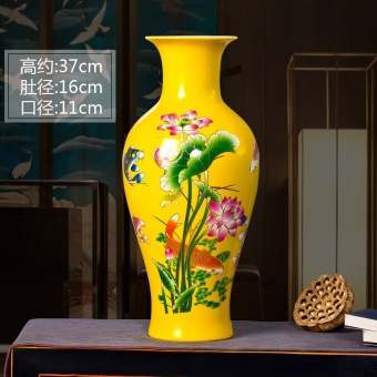 Chinese Hong lucky bamboo vase flower arrangement vase