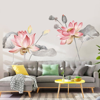 Chinese-style bedroom bedside wall self-sticky paper sticker