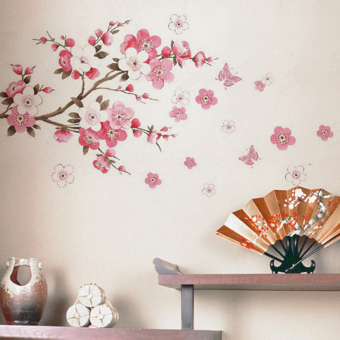 Chinese-style Chinese living room bedroom dormitory Decorative Sticker wall adhesive paper