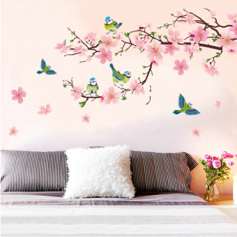 Chinese-style Home Decorative wall decorative flower adhesive paper wall stickers