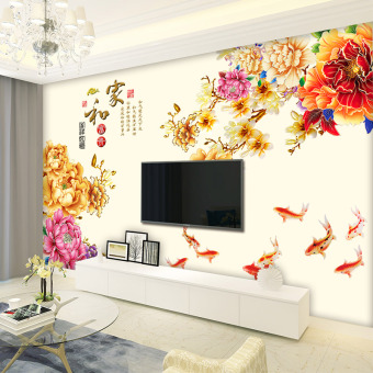 Chinese-style living room bedroom wall decoration waterproof wallpaper wall stickers