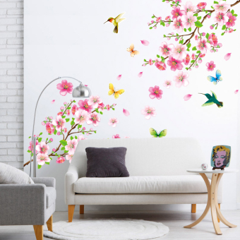 Chinese-style living room sofa background bedroom stickers wall stickers