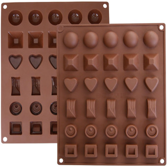 Chocolate hole heart-shaped round silicone Mold