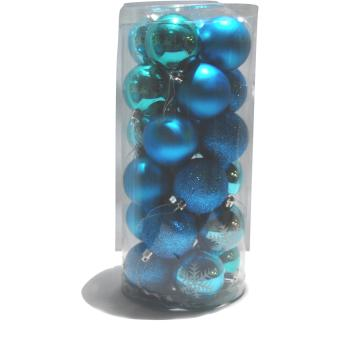 Christmas Balls Decoration 24 Pieces (BLUE) Price Philippines