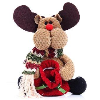 Christmas Candy Bag Tree Decor Ornaments Xmas Decor Santa Claus Snowman Reindeer - intl - picture 2