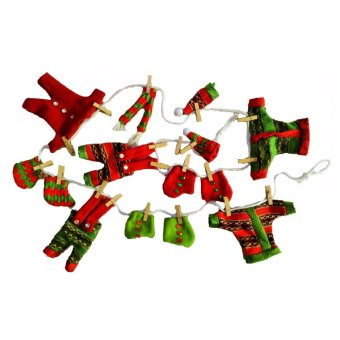 Christmas Decor 178 cm Santa Claus Miniature Clothes Fabric Garland Trimmings for the Holiday by Everything About Santa (Christmas decoration and gift suggestion)