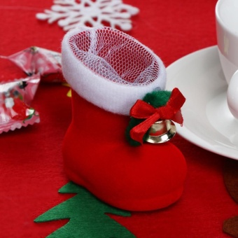 Christmas Decor Santa Claus Candy Boots Home Party Gift Red Boots (Red) - intl - picture 2