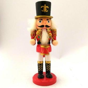 Christmas Decor Wooden Nutcracker 21 CM Figurine for the Holiday(Made of wood) by Everything About Santa (Christmas decoration andgift suggestion)