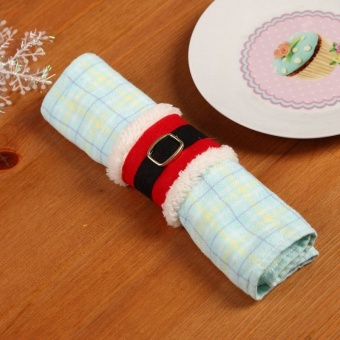 Christmas Festival Party Decorations Serviette Holder Napkin Ring (clothes) 1pcs - intl - picture 2