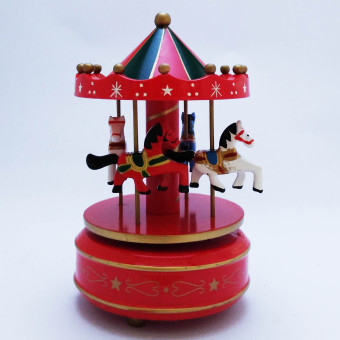 Christmas Musical Carousel Gift item Giveaway Decoration(Multicolor by Everything About Santa (Christmas decoration andgift suggestion)