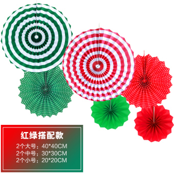 Christmas Opening shop decorative paper fans