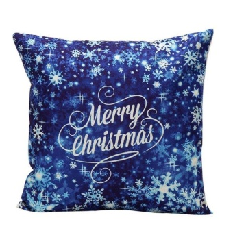 Christmas Pillow Case Sofa Waist Throw Cushion Cover Home Decor -intl