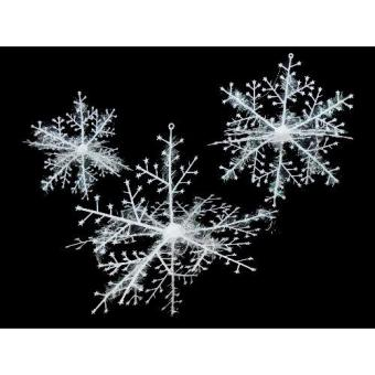 Christmas Snow Flakes Decoration Hanging Ornaments Snow As TreeDecor Accessories