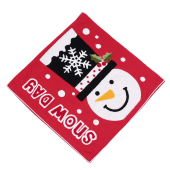 Christmas Snowflake Snowman Snow Pillow Cover (Red) (Intl) - picture 2