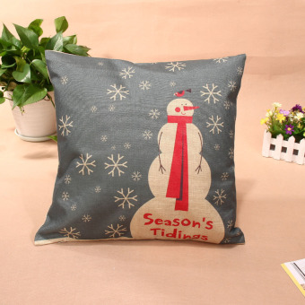 Christmas Throw Home Decorative Cotton Linen Pillow Case Cover 004 - picture 2