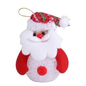 Christmas Tree Hanging Ornaments Decor LED Light Doll Toy #Santa Claus - intl - 3