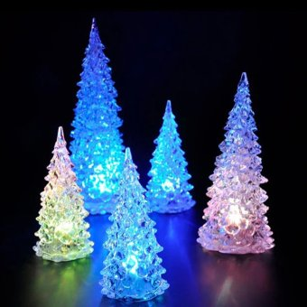 Christmas Tree Ice Crystal Colorful Changing LED Desk Decor (Intl) - picture 4
